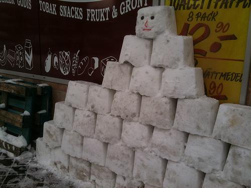 Creative snowman